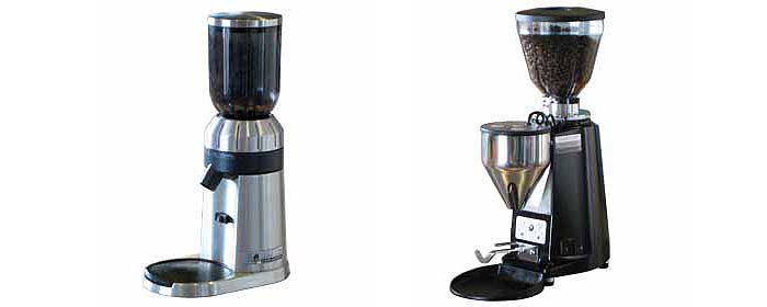Sunbeam em480 and Mazzer mini coffee grinders