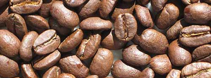 Roasted coffee beans from a modified Whirley Pop